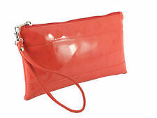 LONI Womens Girls Adorable Patent Faux Leather Clutch Bag Wallet Purse Wristlet
