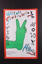 VINTAGE ORIGINAL 1983 H. TOMASZEWSKI WITOLD TOMBROW POLISH THEATER POSTER
