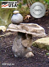 Garden Rock Bird Bath Outdoor Décor Natural Birdbath Cast Stone Patio Water Art