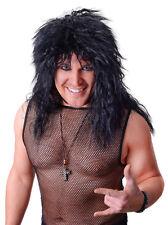Rockstar Langhaar-Perücke schwarz NEU - Karneval Fasching Perücke Haare