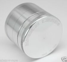 """Space Case Herb & Tobacco Grinder Small 2"""" Inch 4 Piece Aluminum New Silver"""