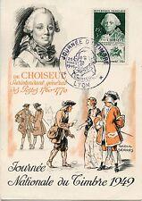 CP / MAXIMUM 1° JOUR / JOURNEE DU TIMBRE 1949 CHOISEUL / LYON