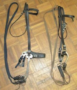 2 PC HORSE TACK LOT: 2 GOOD USED COMPLETE WESTERN BRIDLES~USED WESTERN TACK