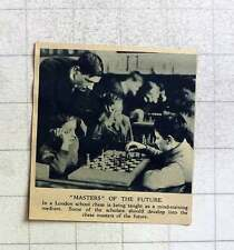 1919 Chess Being Taught As A Mind Training Medium In London School