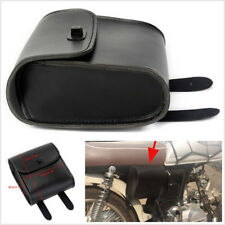 1 X Black PU Leather Portable Motorcycle Front Handlebar Tool Luggage Saddle Bag