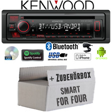 Kenwood Autoradio für Smart ForFour 454 Bluetooth Spotify CD/MP3/USB Einbauset