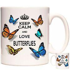 Taza De Mariposa Mariposas Keep Calm Y Amor puede ser personalizado apto para lavavajillas