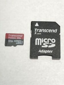 Transcend 32GB micro SDHC SD Premium 300x Memory Card with adapter S081801