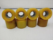 Vintage old stock metaflex cobra Roller Skate Wheels  Full Set of 8 yellow