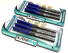 2 PACKS 6 PENS Promarx® ULTRA FINE PENS PRECISE AND VIVID LINES BLUE INK 0.5mm