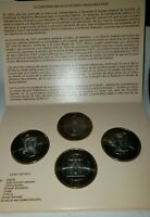 Set Of 4 Bimetallic Silver Coins  GUANAJUATO, GUERRERO, DISTRITO FEDERAL,  NICE