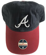 "NWT MLB Atlanta Braves Medium ""Perfect Fit"" Franchise Hat Cap Twins Enterprise"