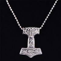 Hammer Anhänger Halskette nordischen Wikinger Amulett Männer Schmuck ZD