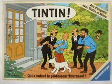 1987 JEU : Qui a enlevé le Prof TOURNESOL - HERGE TINTIN -COMPLET très bon état