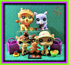 🌺 Littlest Pet Shop SAFARI LOT Lion 944 Rhino 1908 Camel 997 + w/ Accessories