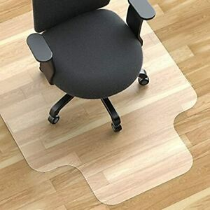 """Office Chair Mat for Hardwood Floor 47""""×35"""", Thick and Resistant Desk Chair Mat"""