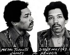 Jimi Hendrix Mugshot 1969 Arrested Mug shot 8 x 10 Photo Picture Photograph