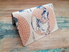MUGWUMP - Pink Mini-Wallet Cardholder Reclaimed Map Handmade Upcycled Crafts