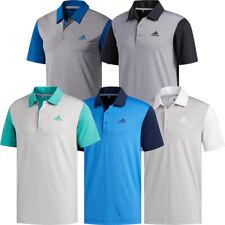 Adidas Golf Mens Ultimate365 Camo Embossed Short Sleeve Polo Shirt