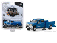 GREENLIGHT Dually Drivers 2018 Chevrolet Silverado 3500HD 1:64 Blue
