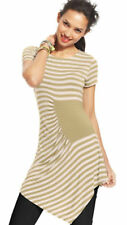 NWT $69 eci New York Women's Multi-Color Striped Short Sleeve Top Blouse Size: M