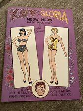 Katy And Gloria In Meow Meow Paper Doll Book 1992 Bill Woggon New Uncut!