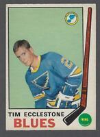 1969-70 O-Pee-Chee St. Louis Blues Hockey Card #179 Tim Ecclestone