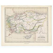 Antique Coloured Map 1846 - ANCIENT ASIA MINOR by Gellatly - Chambers Atlas