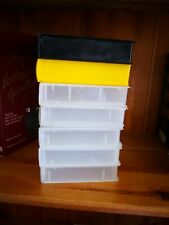 7 EMPTY VHS VIDEO TAPE STORAGE CASES Clear Up Cycle Retro  Free Post