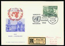 AUSTRIA MK 1961 UNO KONFERENZ WIEN UN UNITED NATIONS MAXIMUM CARD MC CM bo05