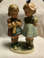 """Signed and dated 7.5"""" Goebel Figurine #256 """"Knitting Lesson"""" Tmk-6"""