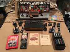 ATARI VCS 2600 1980 Sunnyvale Console System LOT Complete Original BOX + Games