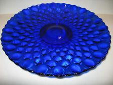 Cobalt Blue art glass cake serving Plate / Platter pedestal tray stand Elizabeth