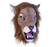 Lion Realistic Rubber Mask Fancy Dress Costume Outfit Prop Lions Head