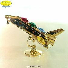 SHUTTLE 24K GOLD PLATED CRYSTOCRAFT SWAROVSKI ELEMENTS