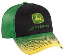 NEW John Deere Black Green Cap Gradient Dot Visor JD Hat 261565