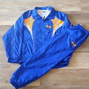 Rare Vintage FILA Sport Track Jacket/Pants Suit Set Size L