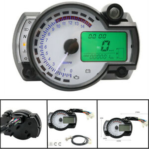 (7 Colour)  12V Motorcycle Lcd Digital Instrument Assembly