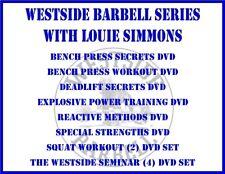 POWERLIFTING WEIGHTLIFTING PERFORMANCE (12) DVD SET bench press deadlift squat