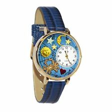 Whimsical Watches Unisex G1810004 Cancer Royal Blue Leather Watch