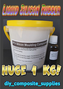 Liquid SILICON Rubber Moulding Compound, mould making, 1 kg kit FREE FREIGHT