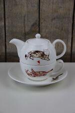 Roy Kirkham - Tea for one - Tasse / Kanne / Teller - Cats / Katzen - Tee Set