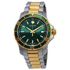 Movado 800 Green Dial Two-tone Men's Watch 2600147