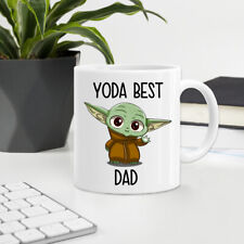 YODA BEST DAD Funny Father's Day Mug Printed Ceramic Tea Coffee Cup Gift 01