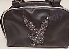 New Playboy Bling Bunny Purse Black Bag Handbag  Tote Faux Leather