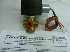 "New listing Asco 1/4"" Ef8320G188 3 way N/C exp proof valve air/water/lt oil 208/240 C406"