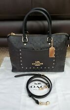 Authentic Coach  Embossed Signature Leather Satchel NWT A Great Gift! MSRP $478
