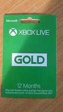 Microsoft Xbox Live 12 meses