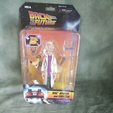 """BACK TO THE FUTURE- ANIMATED SERIES- """"DOC"""" BROWN AND EINSTEIN- NECA 2020"""