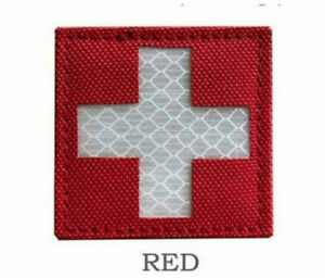 Reflective Medic Cross Tactical Patch First Aid Badage - 2x2